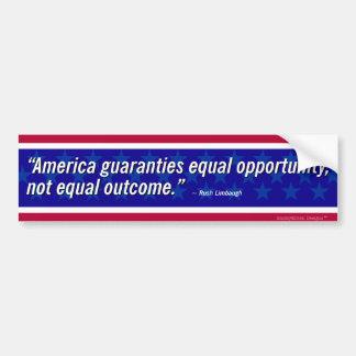 Limbaugh Zitat - Chancengleichheit Autoaufkleber
