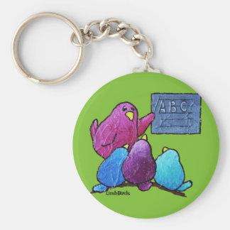 """LimbBirds 2,25"""" Knopf Keychain Standard Runder Schlüsselanhänger"""