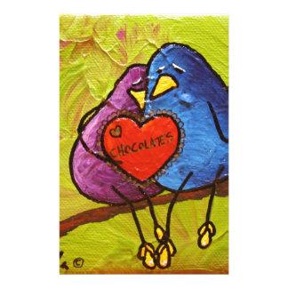 "LimbBirds ""Schokoladen-Valentinsgruß "" Briefpapier"