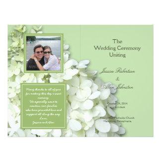 Limelighthydrangea-Foto-Hochzeits-Programm 21,6 X 27,9 Cm Flyer
