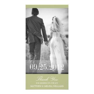LIMON DANKE, DANKEN WEDDING %PIPE% IHNEN ZU PHOTO GRUßKARTE