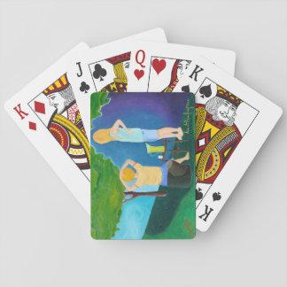 Limonade kämpft Kartenstapeles Spielkarten