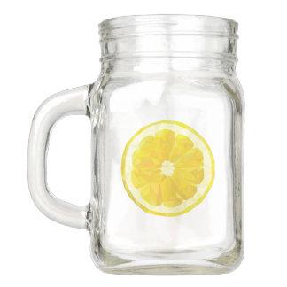 Limonade-Trinkbehälter. Zitronen-Glas Einmachglas