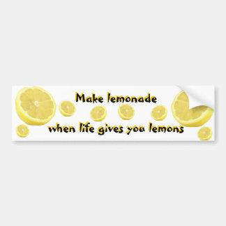 Limonade - wenn das Leben Ihnen Zitronen gibt Autoaufkleber