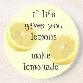 Limonade - wenn das Leben Ihnen Zitronen gibt Sandstein Untersetzer