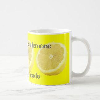 Limonade - wenn das Leben Ihnen Zitronen Rat gibt Kaffeetasse