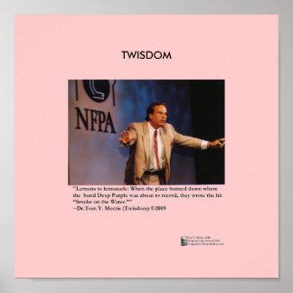 """Limonade-"" Zitat Twisdom Plakat-W/Tom V Morris"