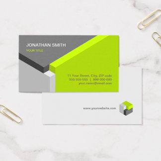Limone/graue Geschäftskarte des Entwurfs des Visitenkarte