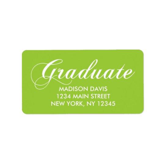 Limone grüne Abschluss-Adressen-Etiketten Adress Aufkleber