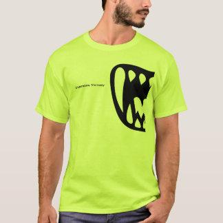 Limone grüne Benachteiligt-Sieg-Schwarz-Reißzähne T-Shirt