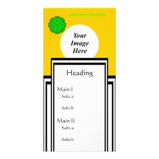 Limone grüne Blumen-Band-Schablone Photo Karten