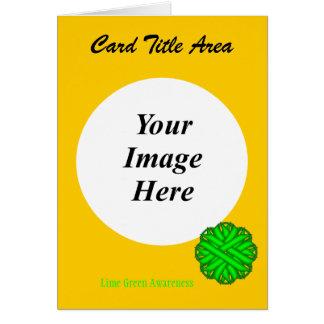 Limone grüne Blumen-Band-Schablone Karte