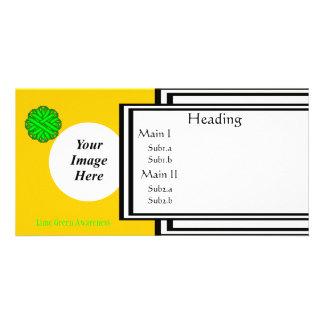 Limone grüne Blumen-Band-Schablone Photokartenvorlage