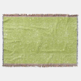 Limone grüne Glitzer-Glitzern Decke