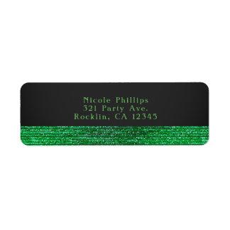Limone grüne moderne bezaubernde Sequins-Party Kleiner Adressaufkleber