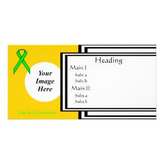 Limone grüne Standardband-Schablone Fotogrußkarten