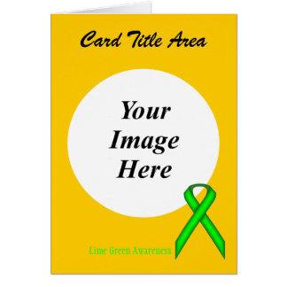 Limone grüne Standardband-Schablone Karte