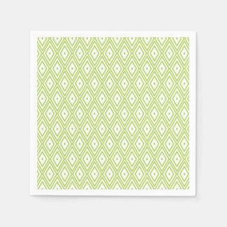 Limone grüner und weißer Diamant-Papierservietten Papierserviette