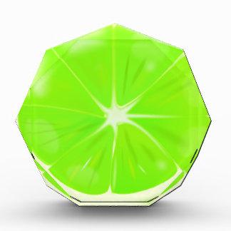Limone Scheibe Acryl Auszeichnung