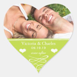 Limone Tafel, die Save the Date Siegel Wedding ist Herz-Aufkleber