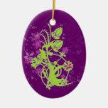 Limone u. Pflaumen-Flora Whimsy Ornamente