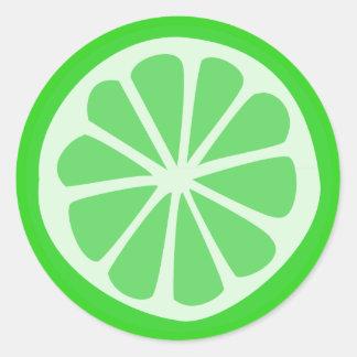 Limone Zeit Runder Aufkleber
