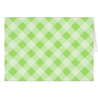 Limoner grüner Gingham danken Ihnen zu kardieren Karte