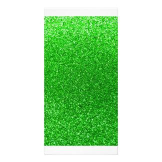 Limoner grüner Glitter Fotokarte