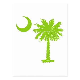 Limoner grüner Palmetto Postkarte