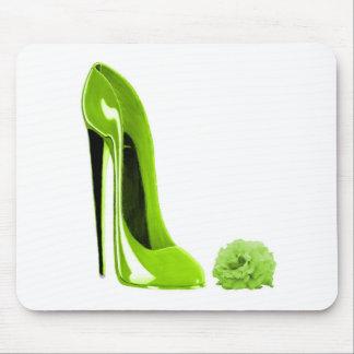 Limoner grüner Stilett-Schuh Mauspads