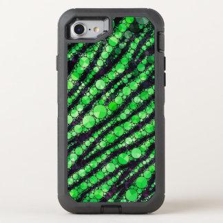 Limoner grüner Tiger Bling OtterBox Defender iPhone 8/7 Hülle