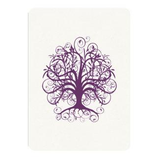 Limoner Schriftart des lila Baums, der Invitate Karte