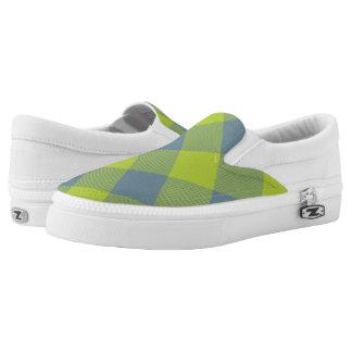 Limoner und blauer Büffel kariert Slip-On Sneaker