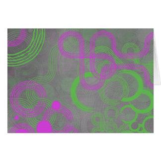 Limoner und rosa Cyber Karte