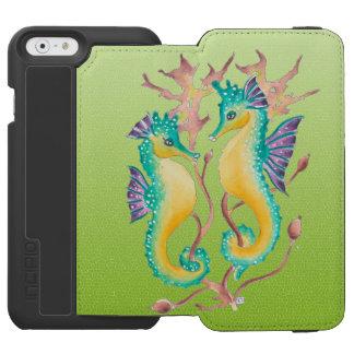 Limones beflecktes Glas der Seepferde Incipio Watson™ iPhone 6 Geldbörsen Hülle