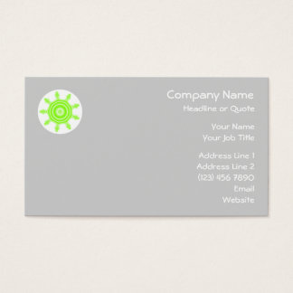 Limones Explosions-Fraktal. Grün, Grau und Weiß Visitenkarte