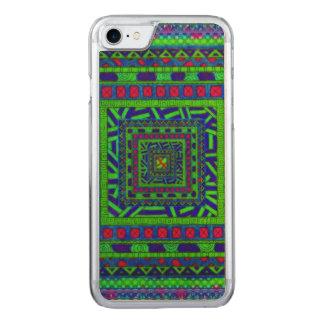 Limones grün-blaues rotes aztekisches Stammes- Carved iPhone 8/7 Hülle