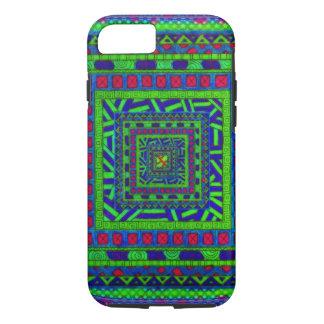 Limones grün-blaues rotes aztekisches Stammes- iPhone 8/7 Hülle