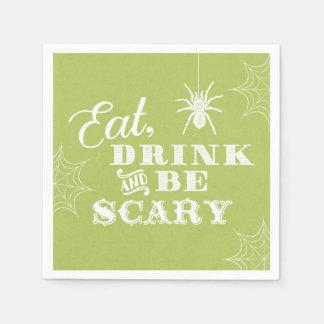 Limones Grün essen Getränk und sind beängstigendes Servietten