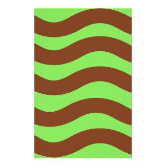 Limones Grün und Brown-Wellen Briefpapier