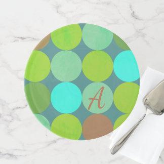 Limones grünes aquamarines Türkis-u. Tortenplatte