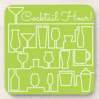Limones grünes Cocktail-Party Getränkeuntersetzer