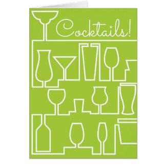 Limones grünes Cocktail-Party Karte