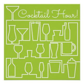 Limones grünes Cocktail-Party Poster