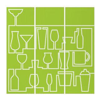 Limones grünes Cocktail-Party Triptychon
