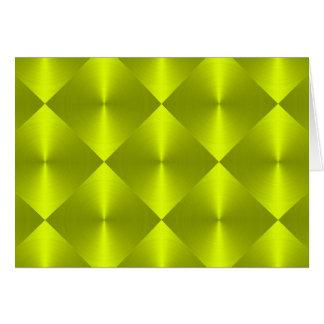 Limones grünes Diamant-Fliesen-Muster Karte