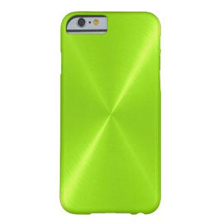 Limones grünes glänzendes rostfreier Stahl-Metall Barely There iPhone 6 Hülle
