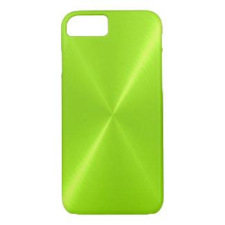 Limones grünes glänzendes rostfreier Stahl-Metall iPhone 8/7 Hülle