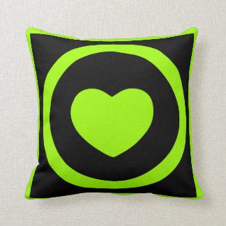 Limones grünes Herz-Kissen