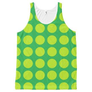 Limones grünes Polka-Punkt-Grün Komplett Bedrucktes Tanktop